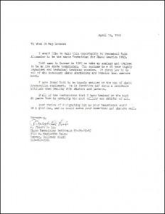 Joe DeLio Letter